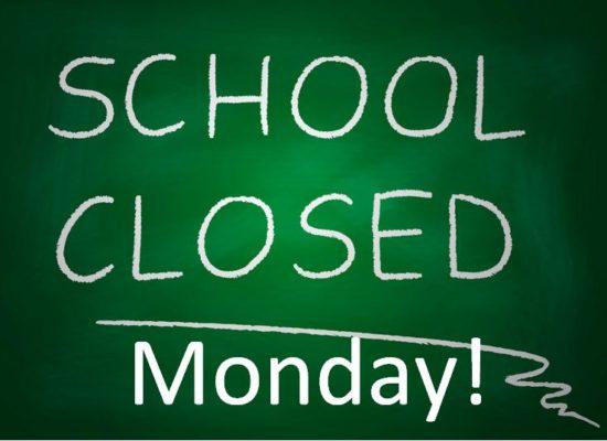 School Closed on Monday 01/05/2017