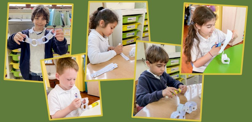 Junior-School – Grade 1: Making a paper chain to order the days of the week