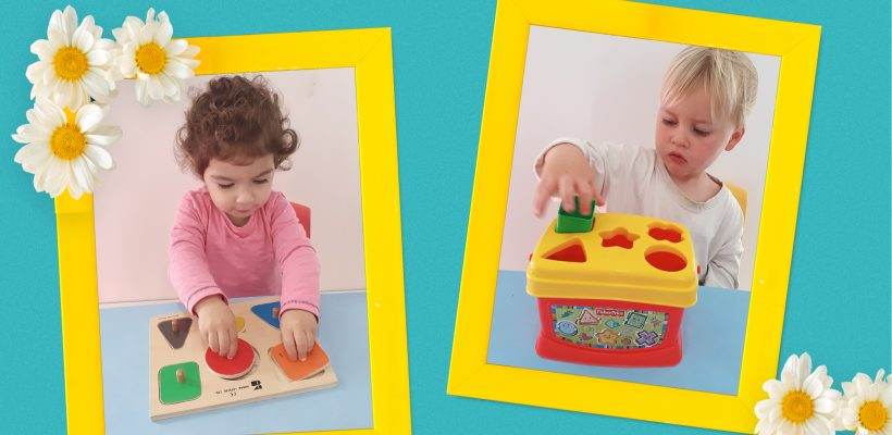 Pre-School – Nursery: Learning to name and recognize shapes as well as practicing our fine motor skills