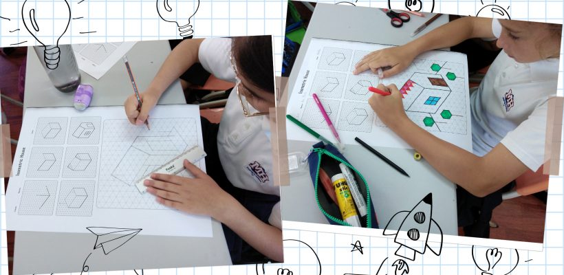 """Junior School – Grade 4: – The Grade 4 students design a house in Isometric perspective and discover its connection with the beloved online game """"MineCraft""""!"""
