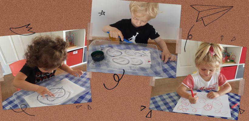 Pre-School – Nursery: Practicing our mark making skills.