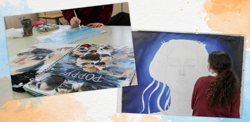 High School: The Year 6 Students are feverishly preparing for theιr forthcoming A Level Art exams!