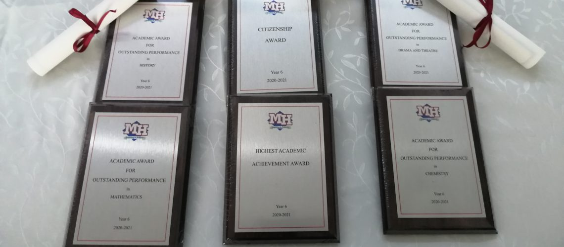 The awards and certificates have been prepared for tonight's Year 6 Graduation and the anticipation is growing!