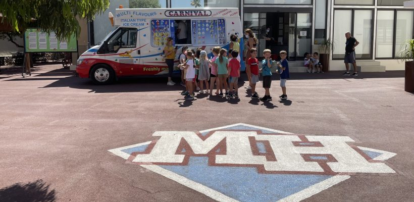 Staying Cool with our Summer School with a little help from our resident ice-cream truck! 🍦