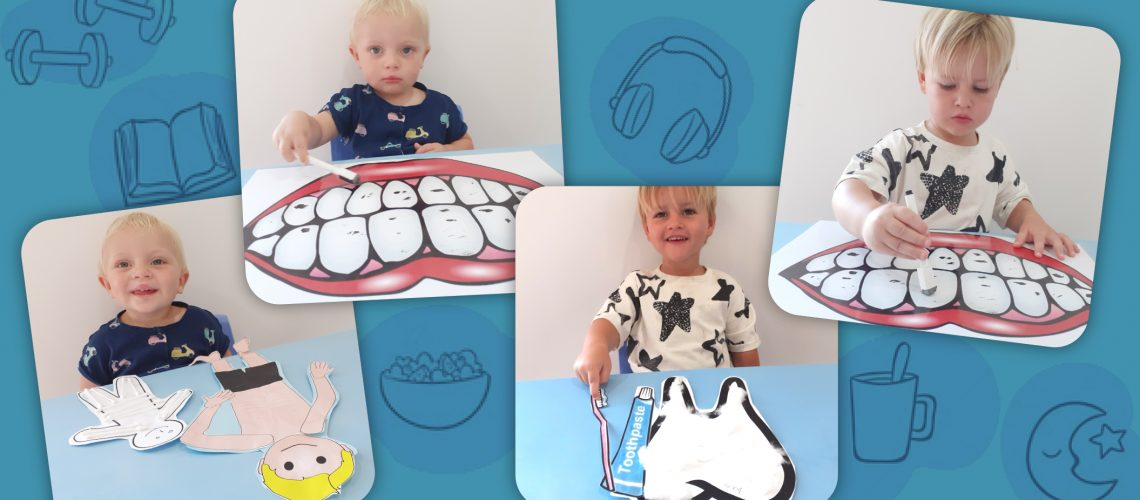 Pre-School: Nursery class – Learning about our bodies and self-care skills build confidence and independence
